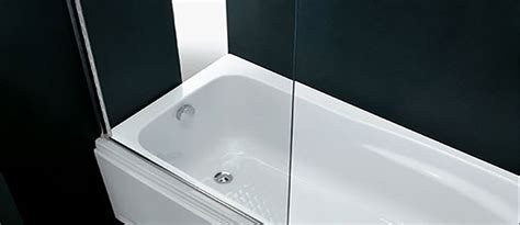 cristallo vasca da bagno sopravasca su misura per il bagno