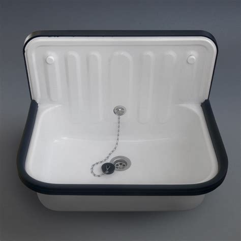 enamel kitchen sinks enamel bucket sink traditional utility sinks by