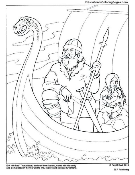 viking ship coloring coloring pages