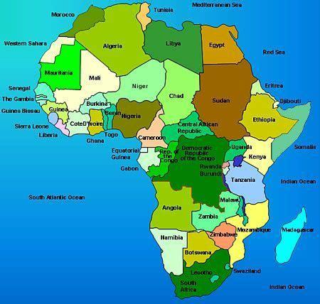 map i africa teaching in africa