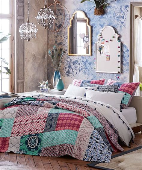 bohemian teen bedroom boho bedding set canadian log homes