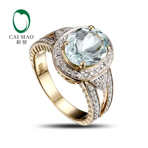 unplated 14k yellow gold aquamarine