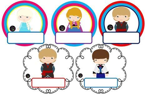 imagenes educativas gratis bonitos gafetes en dise 241 os de frozen material educativo