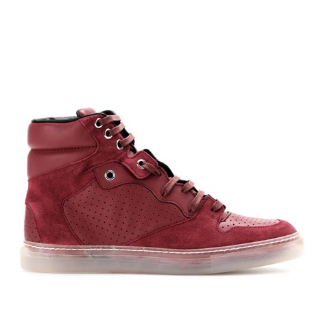 balenciaga s sneakers balenciaga leather and suede hightop sneakers in lyst