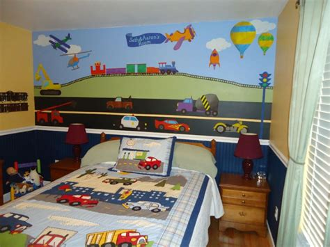 boys wall stickers for bedrooms two boys in chattanooga tn are vrooming around their transportation theme bedroom prlog