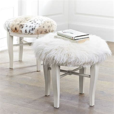 Pottery Barn Faux Fur Stool by Larson Look For Less Challenge Faux Fur Vanity