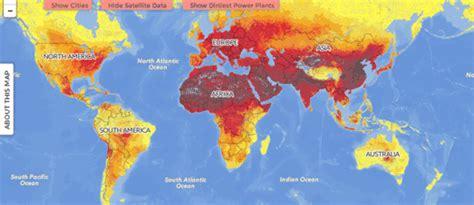 air pollution map america maps mania the worldwide air pollution map