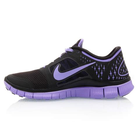 run run shoes nike free run 3 womens running shoes black violet
