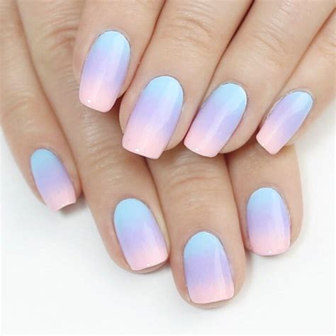 blue ombre nails the gallery for gt blue and pink ombre nails