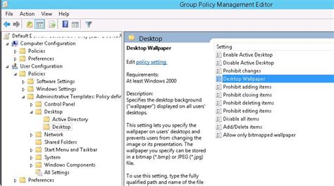setting desktop wallpapers background  group policy