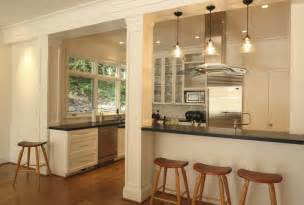 opening the kitchen make most that support post with terrazzo doors stain and grey painted island posts