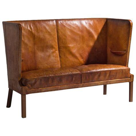 high backed sofa frits henningsen early high backed sofa in original cognac