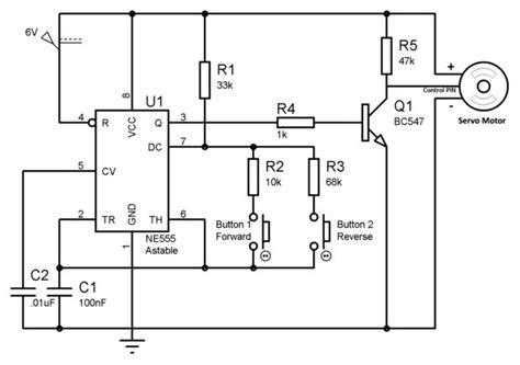 rc servo motor circuit servo motor tester 2