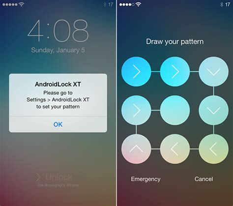 pattern lock screen customization how to customize the lock screen on ios 7