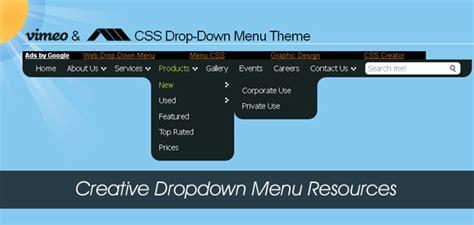 jquery tutorial menu dropdown creative dropdown menu resources