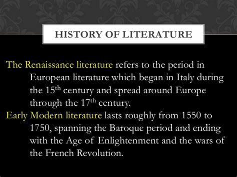 themes in early modern literature all about literature