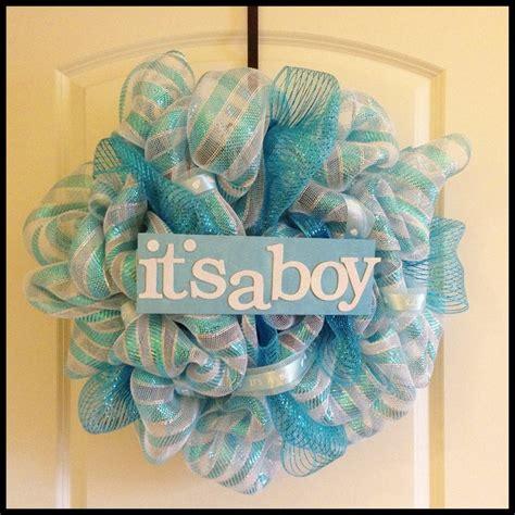 wreath baby shower baby shower wreath it s a boy baby mesh wreath mesh