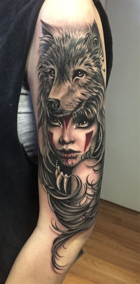 tattoo girl and wolf ryan ashley malarkey s portfolio tattoos tattoos