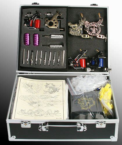 amazon tattoo kit machine kit with 6 guns by fancier s t06 white