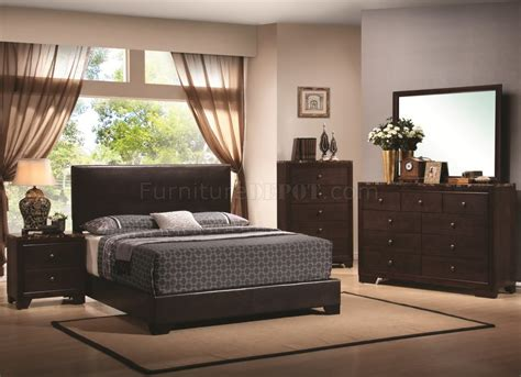 walnut finish modern bedroom w optional casegoods