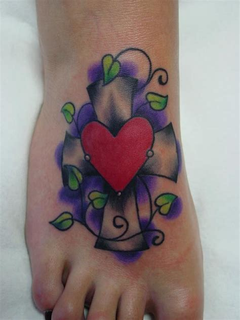 leap of faith tattoo foot cross from leap of faith piercing in