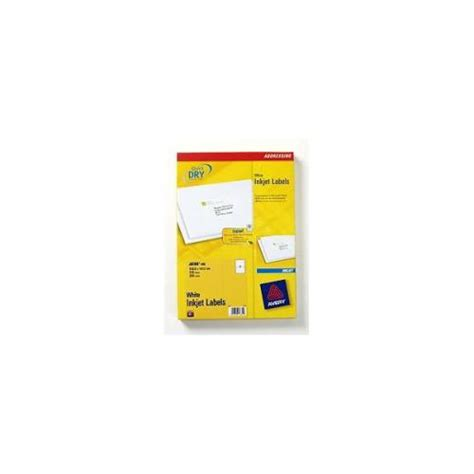 avery j8168 100 white inkjet addressing labels pack of 200