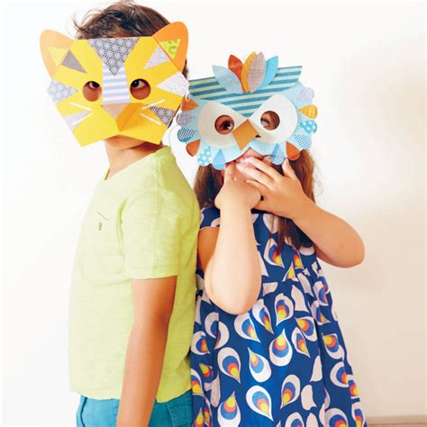 How To Make Animal Masks With Paper - how to make paper animal masks for martha stewart