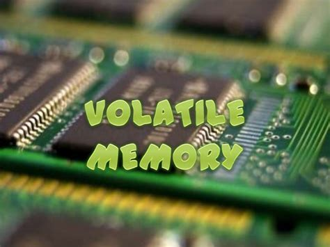 is ram volatile volatile memory