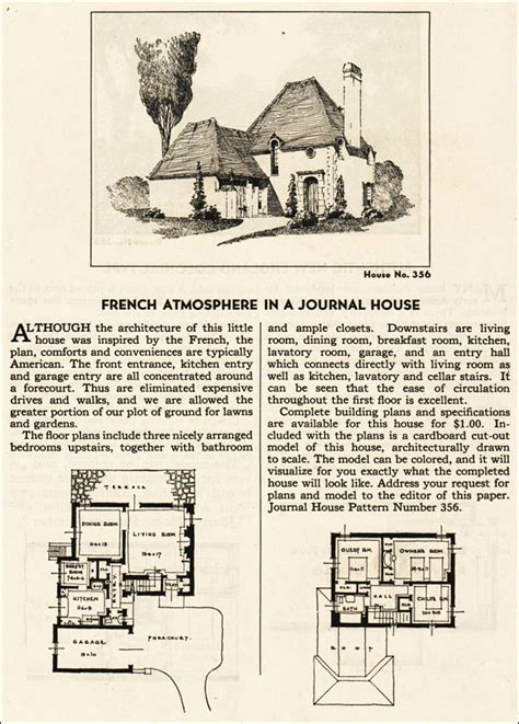eclectic house plans 1935 french eclectic house plan ladies home journal