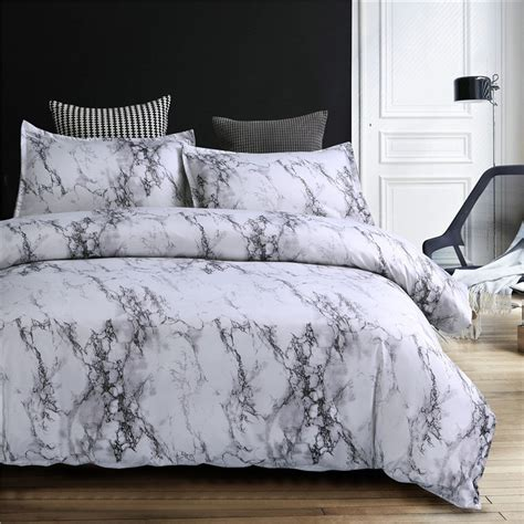 marble pattern bedding sets duvet cover set pcs bed set