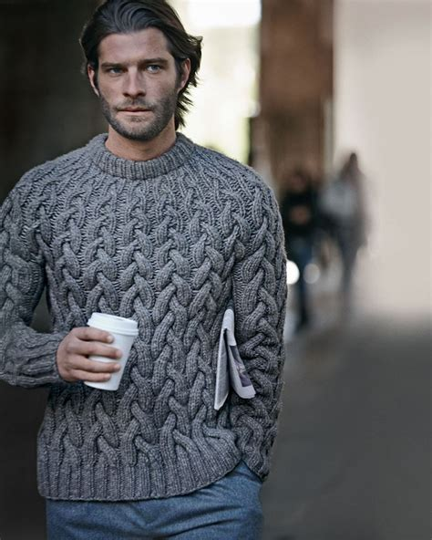 Wool Cable Knit Chunky Sweater From Michael Kors