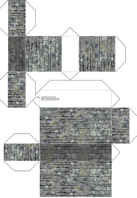 Paper Craft Wall - dungeon walls print cut and glue walls for your rpg s