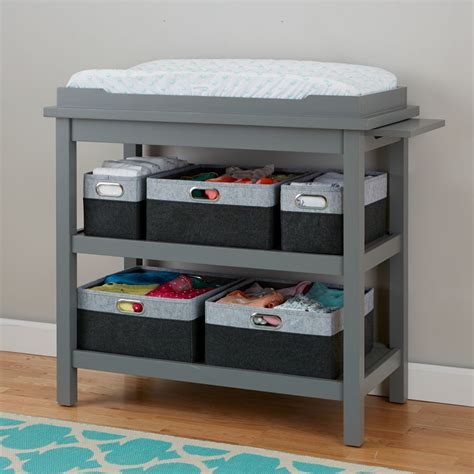 Baby Changing Tables Diaper Changing Stations The Land Gray Changing Table