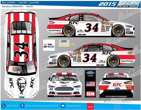 kfc till layout jayski s 174 nascar silly season site 2015 nascar sprint