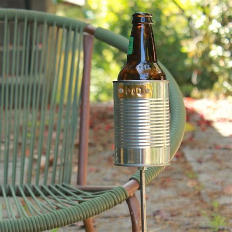 backyard drink holders hobo tin can beer holder garden drink holder