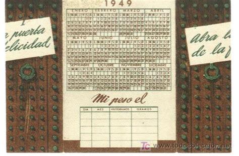 Calendario De 1949 Calendario Espa 241 Ol De Tablesan A 241 O 1949 Comprar