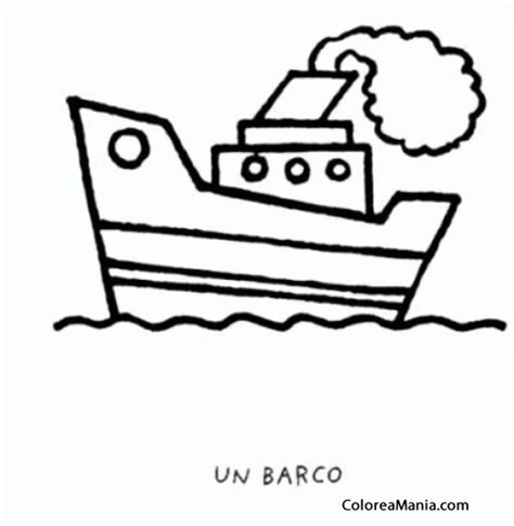 imagenes de barcos faciles para dibujar colorear barquito con humo barcos veleros y dems navios