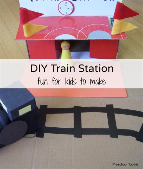 Railroad Point Right Paper Craft diy station for pretend play 187 preschool toolkit