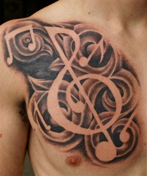 music related tattoos designs 30 eye refreshing chest tattoos ideas wpjuices