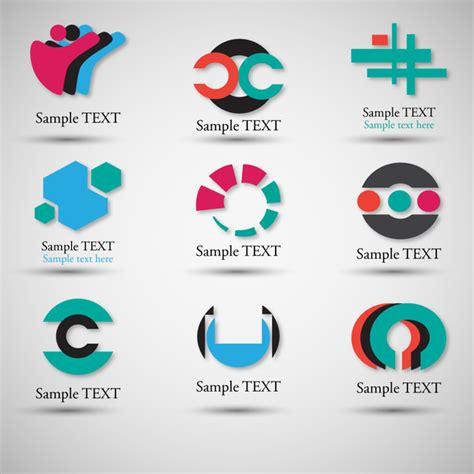 design elements names logo design elements with various shapes illustration free