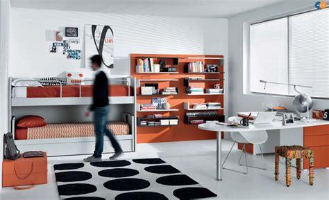 black white orange bedroom teenager s rooms