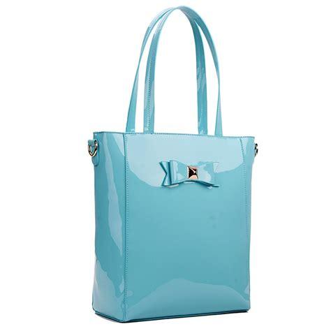 Pvc Tote Bag l1439 miss lulu pvc bow shoulder tote bag blue