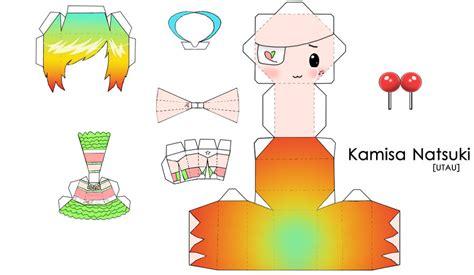 Chibi Papercraft Template - chibi anime paper crafts