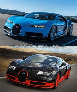 Bugatti Veyron Vs Bugatti Veyron Vs Bugatti Chiron In Images