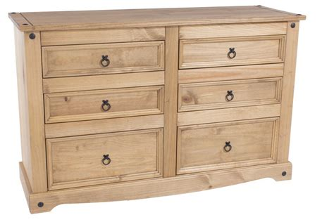 abdabs furniture corona pine wide chest of drawers