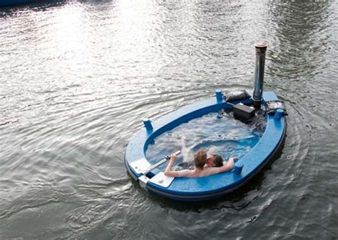 floating hot tub hottug a floating hot tub and an electric motorboat all in one inhabitat green design