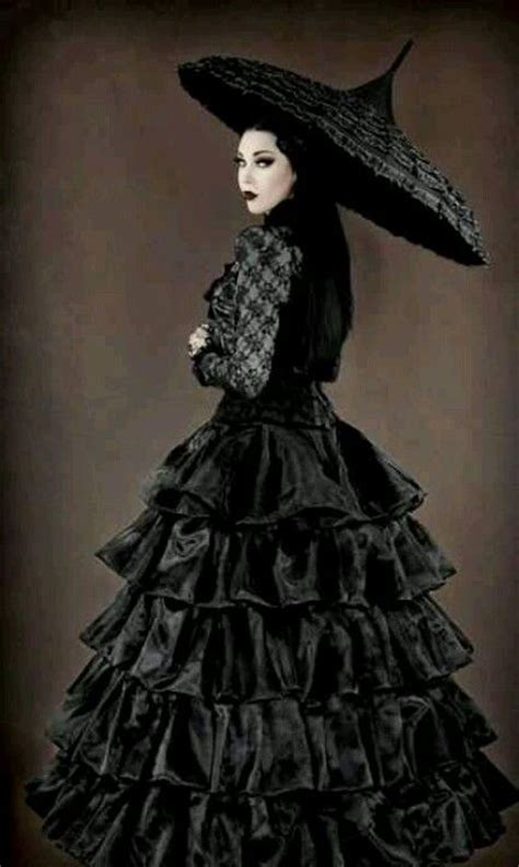 victorian goth gothic neo victorian gown and umbrella goth clothes