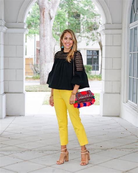 Piyama Pom Pom Purin Pant Yellow today s everyday fashion pom poms for work j s everyday fashion