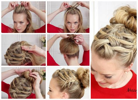 how to twist braid step by step triple french braid with double waterfall hairstyle
