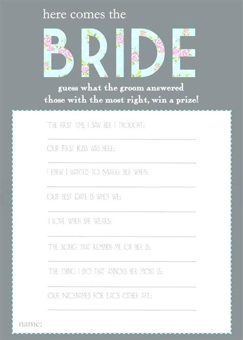 bridal shower trivia questions template bridal shower trivia questions bridal shower trivia questions about the thegrated